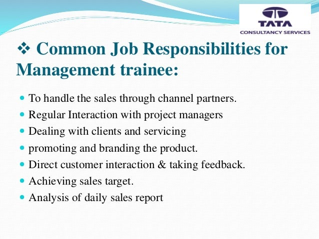 management trainee job description