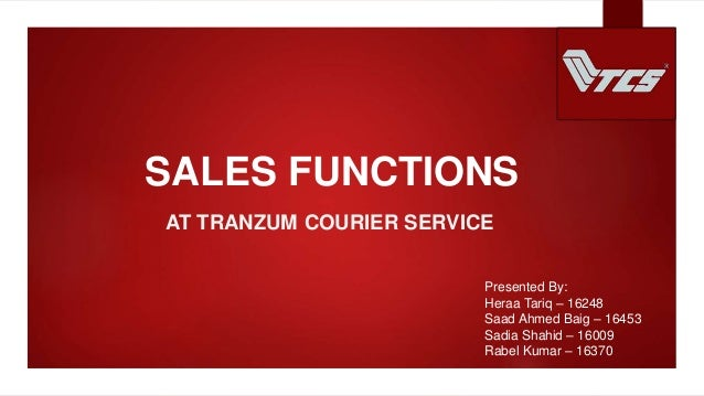 Sales Function at TCS