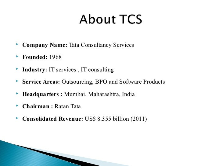 analysis of recruitment methods at tata consultancy services Tata consultancy services limited (tcs) is an indian multinational information  technology (it)  in addition, tcs provides rajasthan royals with technology to  help in analysis of player performance, simulation and  it is an equal  opportunity employer and bases its employment practices on non-discriminatory  reasons.