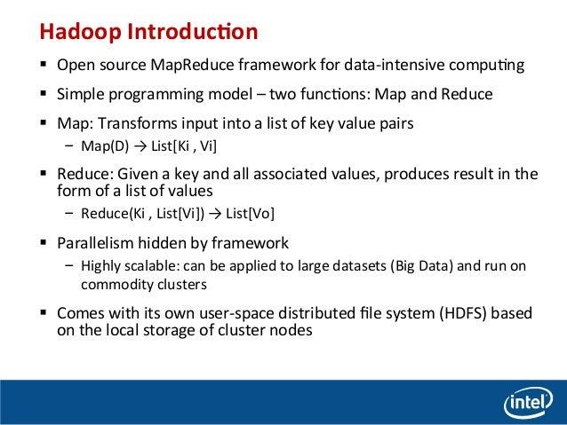 Performance Comparison of Intel Enterprise Edition Lustre and HDFS for MapReduce Application Slide 2