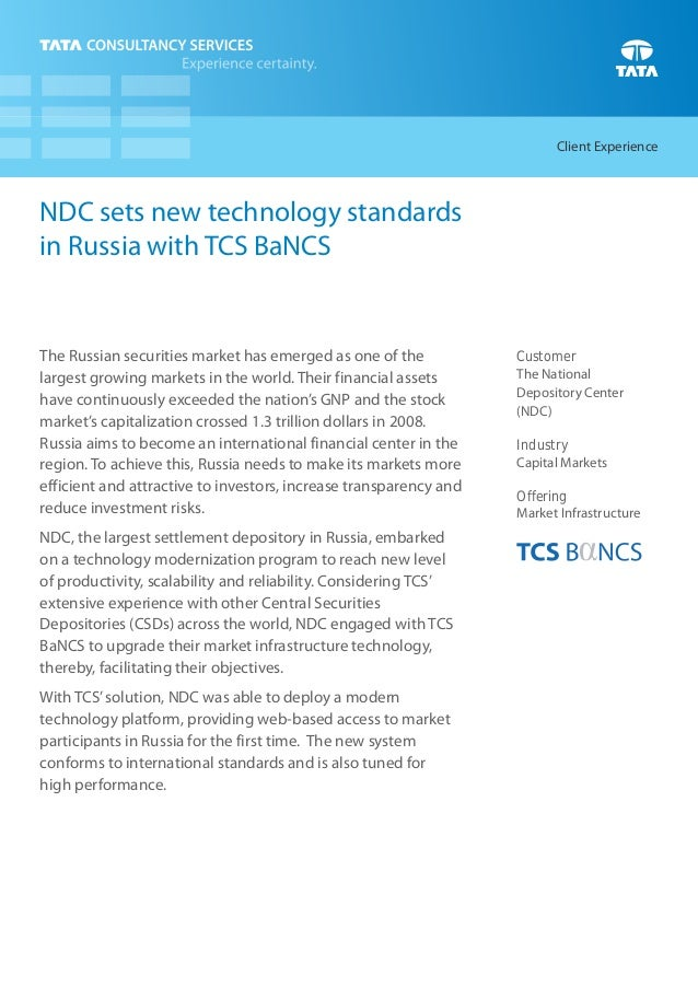 Client ExperienceNDC sets new technology standardsin Russia with TCS BaNCSThe Russian securities market has emerged as one...