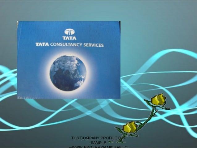 TCS COMPANY PROFILE PPT SAMPLE