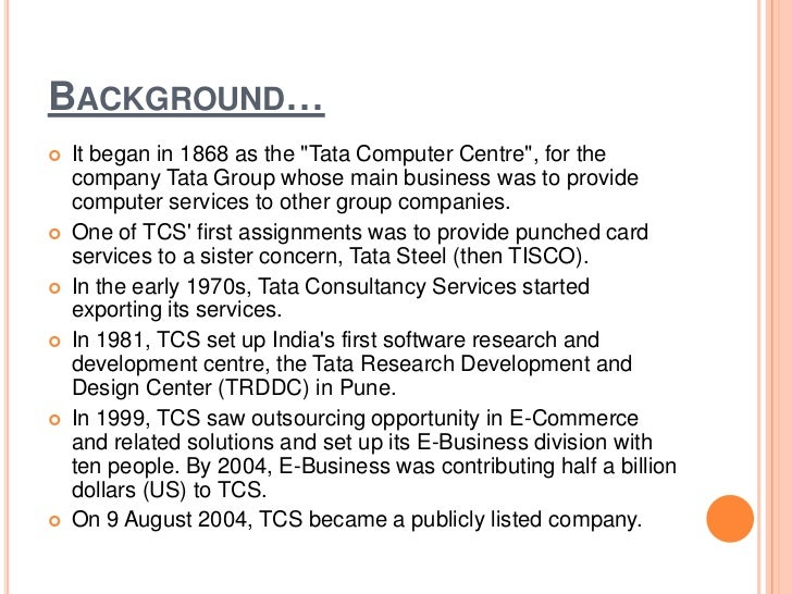 tata consultancy services selling certainty Tata consultancy services limited is an it services, business solutions and outsourcing organization that delivers real results to global businesses, ensuring a level of certainty no other firm can match.