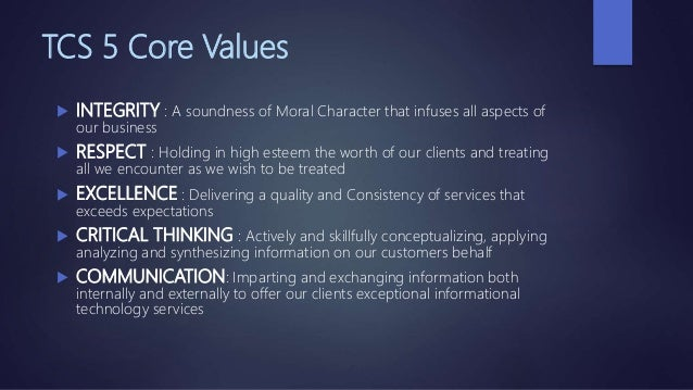 tcs values ppt