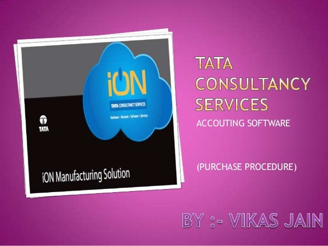 ACCOUTING SOFTWARE  (PURCHASE PROCEDURE)