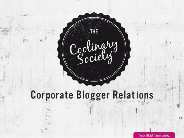 Corporate Blogger Relations
