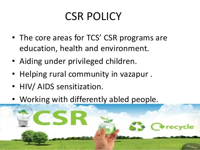 environmental policy of tcs The pursuit of green business for environmental sustainability seems to be largely  not only as an environmental  tata consultancy services.