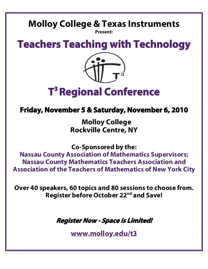 Molloy College & Texas Instruments                          Present: Teachers Teaching with Technology             3      ...