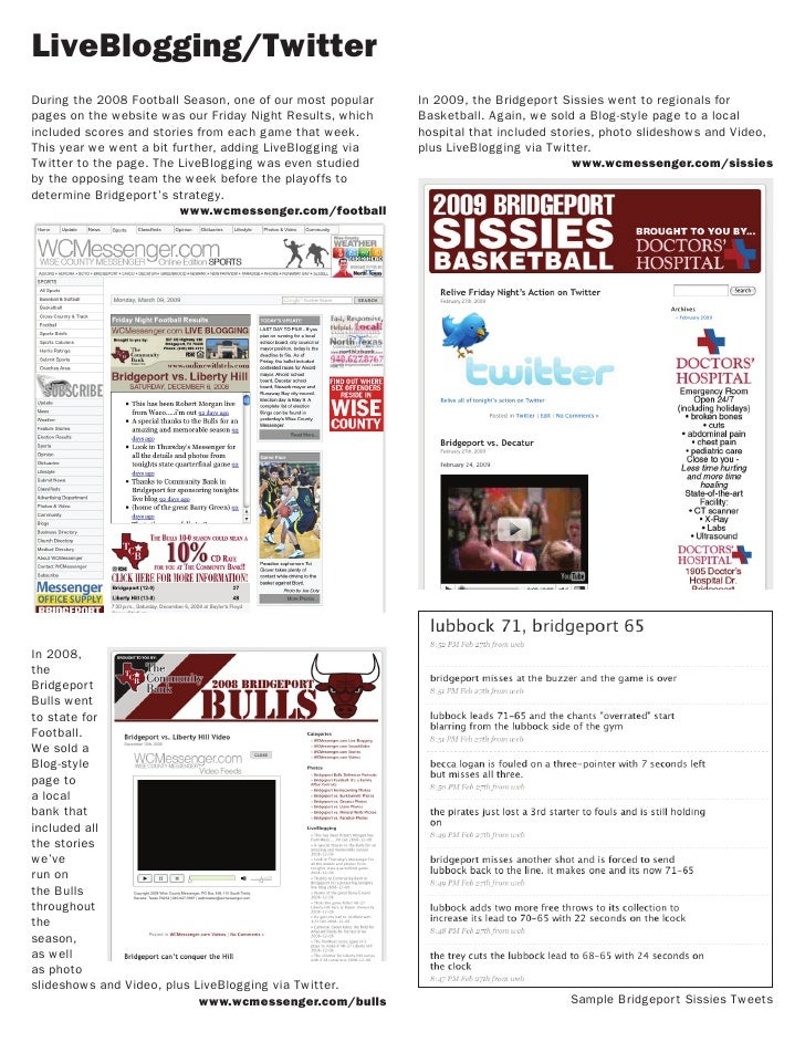 LiveBlogging/Twitter During the 2008 Football Season, one of our most popular   In 2009, the Bridgeport Sissies went to re...
