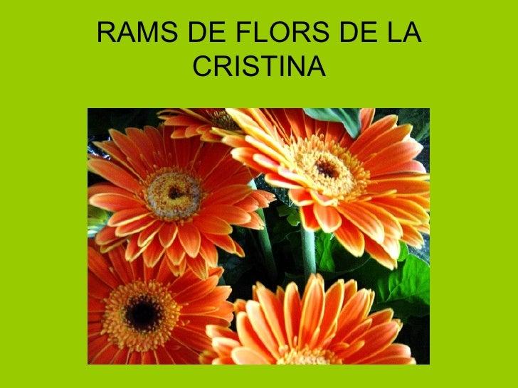 RAMS DE FLORS DE LA CRISTINA