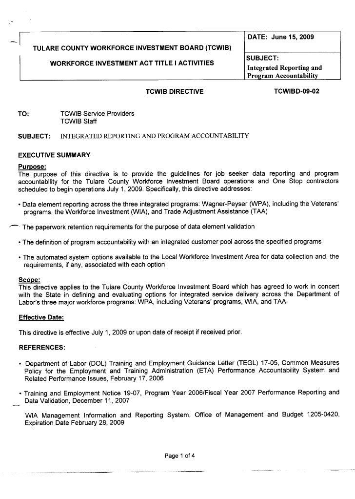 Tcwibd 09-02 integratedrptandpgmaccountability