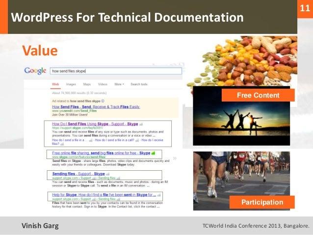 11                                                                     1  WordPress For Technical Documentation     Value ...