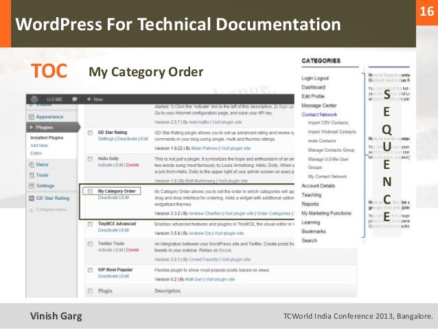 16  WordPress For Technical Documentation     TOC           My Category Order                                             ...