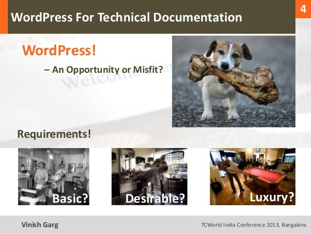 1                                                                                 4  WordPress For Technical Documentation...