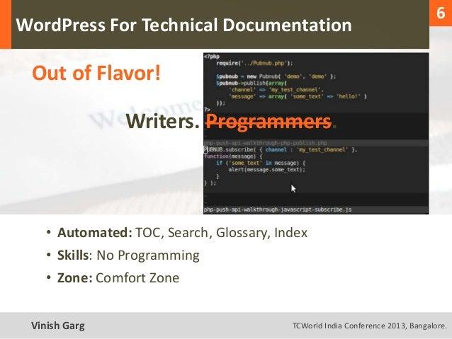 1                                                                                    6  WordPress For Technical Documentat...