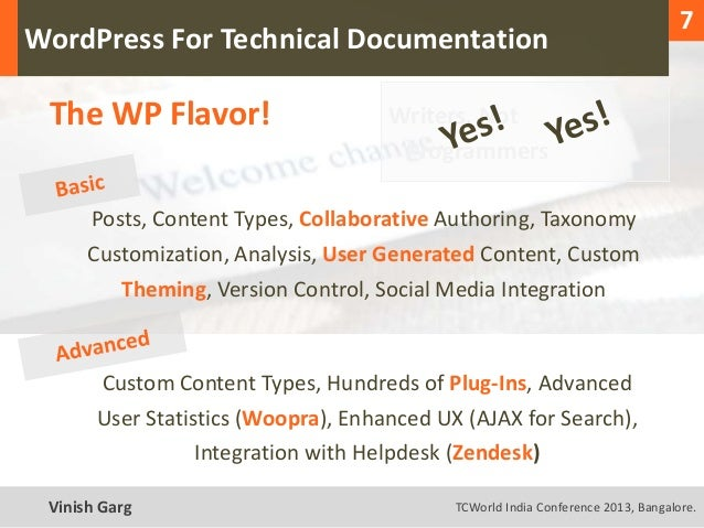 1                                                                                      7  WordPress For Technical Document...