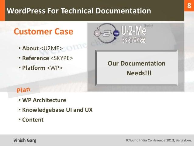 1                                                                              8  WordPress For Technical Documentation   ...