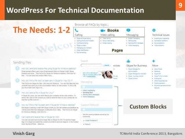 1                                                                      9  WordPress For Technical Documentation     The Ne...