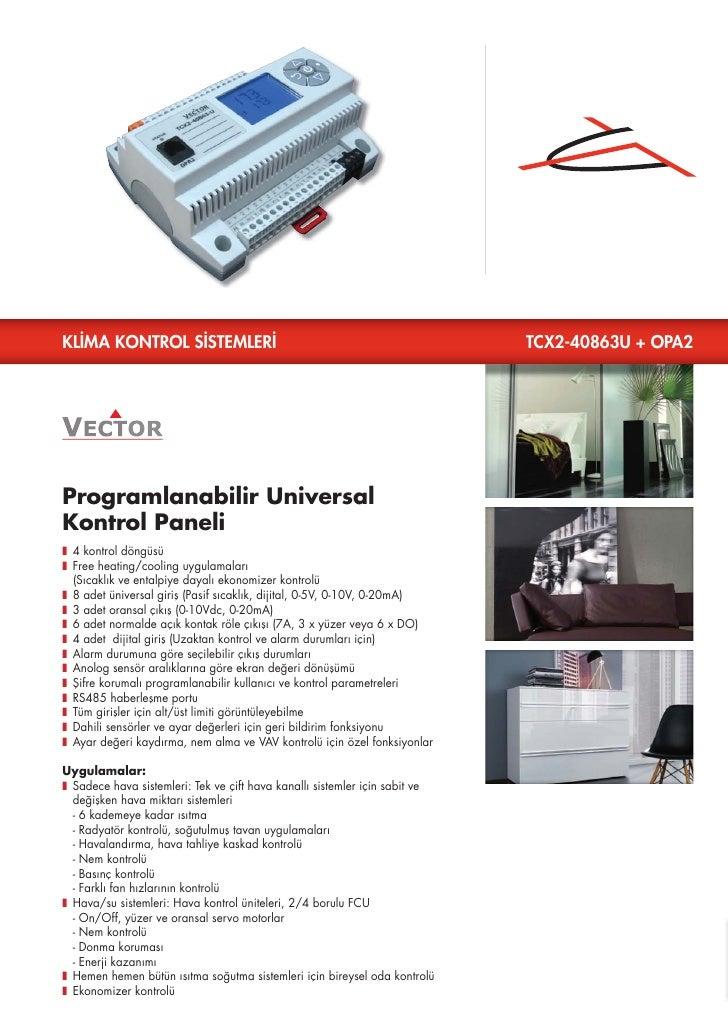 KLİMA KONTROL SİSTEMLERİ                                                     TCX2-40863U + OPA2Programlanabilir UniversalK...