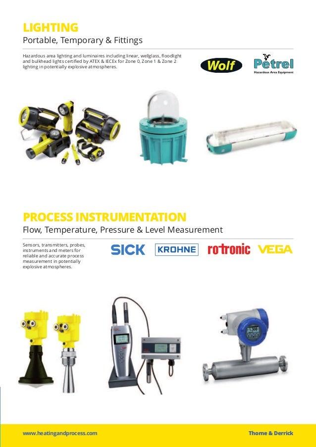 LIGHTING Portable, Temporary & Fittings PROCESS INSTRUMENTATION Flow, Temperature, Pressure & Level Measurement www.heatin...