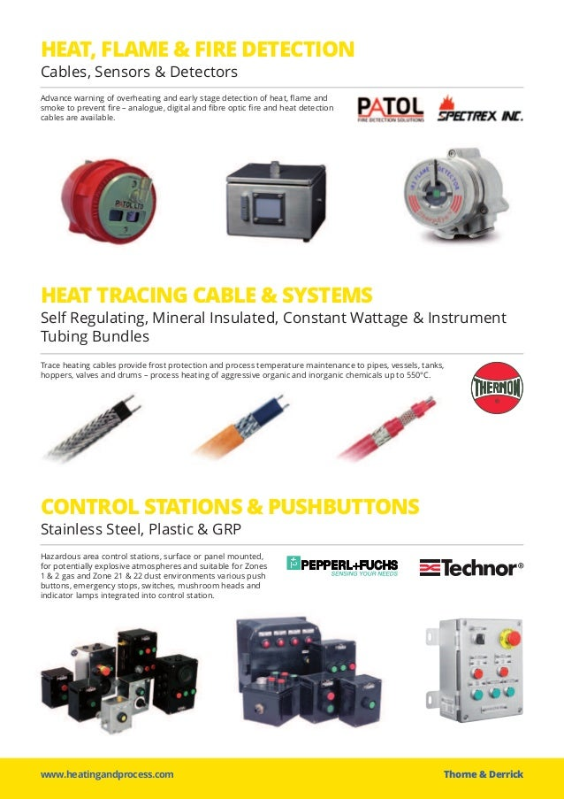 HEAT, FLAME & FIRE DETECTION www.heatingandprocess.com Thorne &Derrick Advance warning of overheating and early stage det...