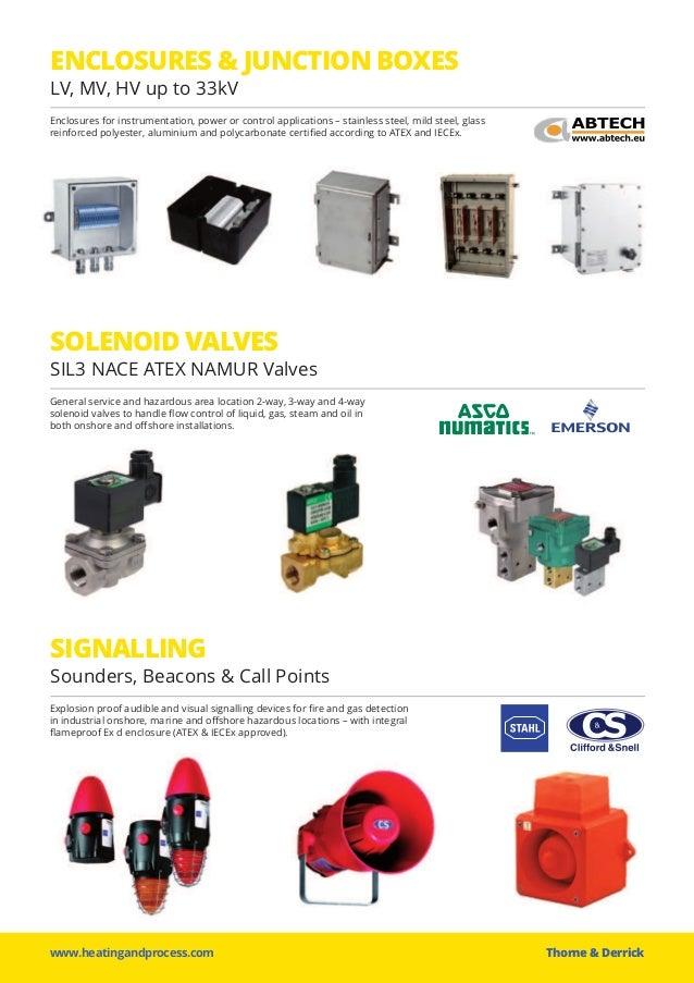 www.heatingandprocess.com Thorne &Derrick ENCLOSURES & JUNCTION BOXES LV, MV, HV up to 33kV Enclosures for instrumentatio...