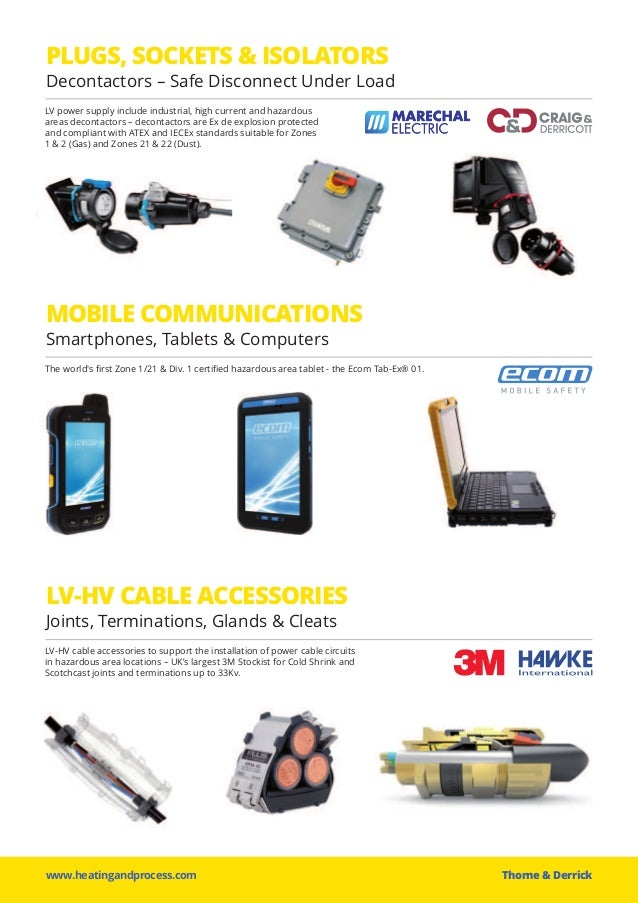 www.heatingandprocess.com Thorne &Derrick PLUGS, SOCKETS & ISOLATORS Decontactors – Safe Disconnect Under Load LV power s...