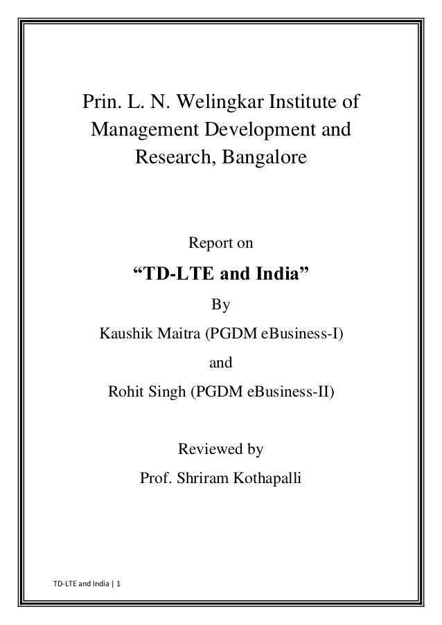 Prin. L. N. Welingkar Institute of         Management Development and               Research, Bangalore                   ...