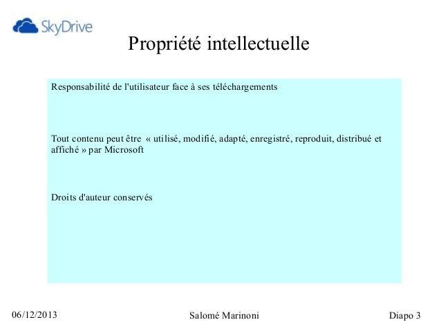 Propriété intellectuelle Responsabilité de l'utilisateur face à ses téléchargements  Tout contenu peut être « utilisé, mod...