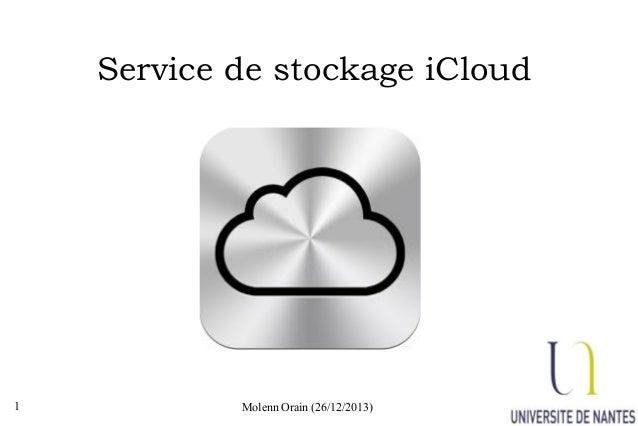 Service de stockage iCloud  1  Molenn Orain (26/12/2013)