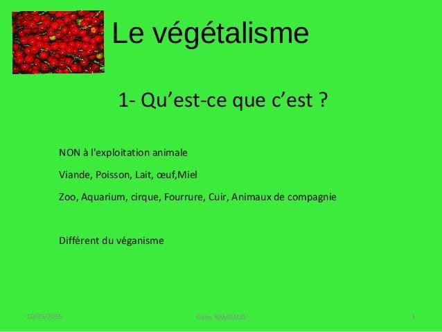 1- Qu'est-ce que c'est ? NON à l'exploitation animale Viande, Poisson, Lait, œuf,Miel Zoo, Aquarium, cirque, Fourrure, Cui...
