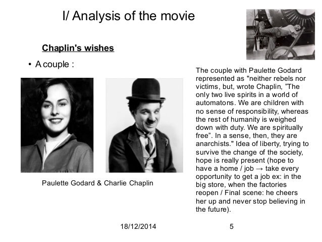 charlie chaplin s modern times movie analysis Modern times was chaplin's last brilliant foray into that singular craft which made him a great artist: a pantomime from thereon out his pictures would be no less endearing or brilliantly conceived, simply not the classic or iconographic (or soundless) charlie that made him legendary.