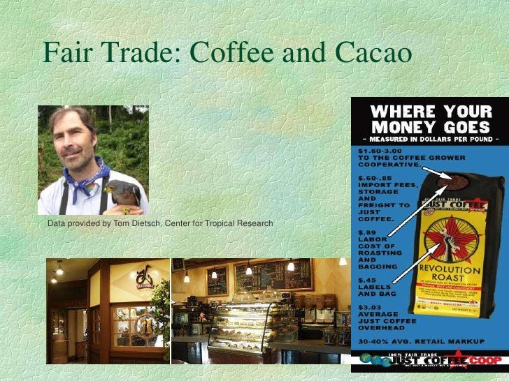 Fair Trade: Coffee and Cacao  .    Data provided by Tom Dietsch, Center for Tropical Research