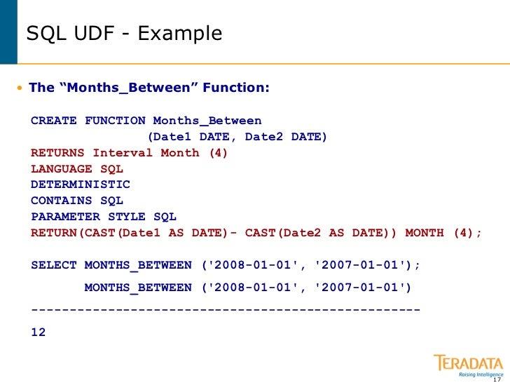 Date named cast syntax in teradata sql