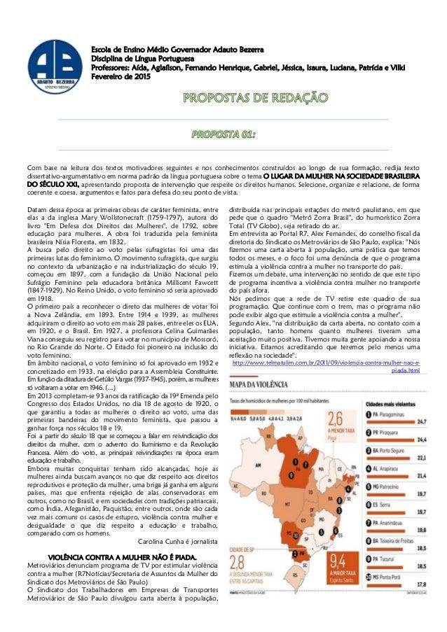 Escola de Ensino Médio Governador Adauto Bezerra Disciplina de Língua Portuguesa Professores: Aída, Aglaílson, Fernando He...