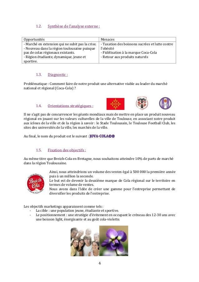 4 1.2. Synthèse de l'analyse externe : Opportunités Menaces - Marché en extension qui ne subit pas la crise. - Nouveau dan...