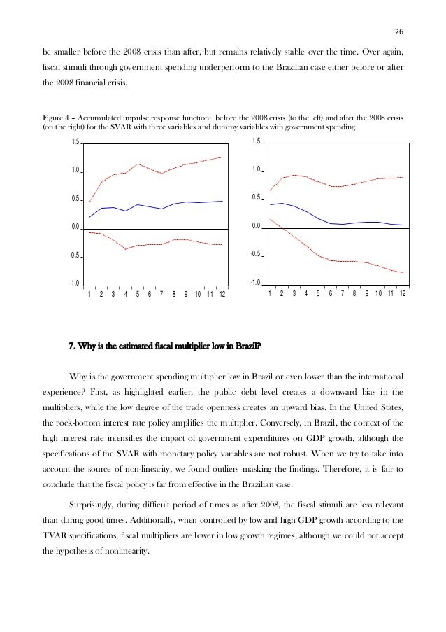brazil fiscal policy Financial crisis, brazil was in a strong position to weather the great recession  both the  at the same time, monetary and fiscal policy was expansionary.