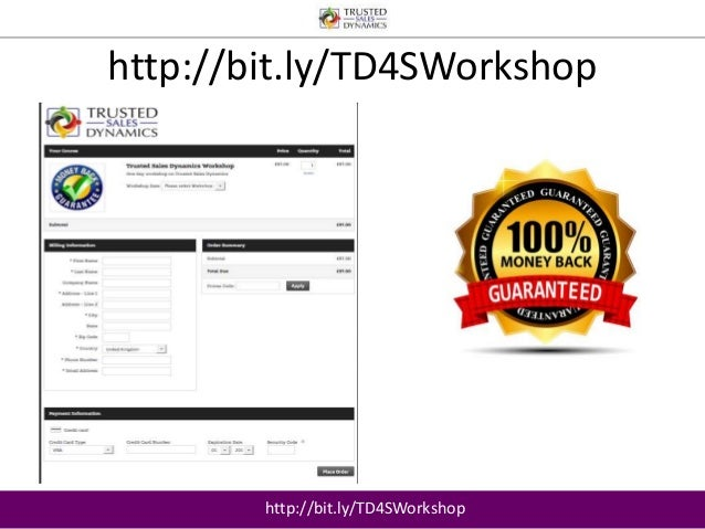 http://bit.ly/TD4SWorkshop  http://bit.ly/TD4SWorkshop