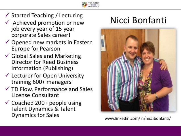  Started Teaching / Lecturing   Achieved promotion or new  job every year of 15 year  corporate Sales career!   Opened ...
