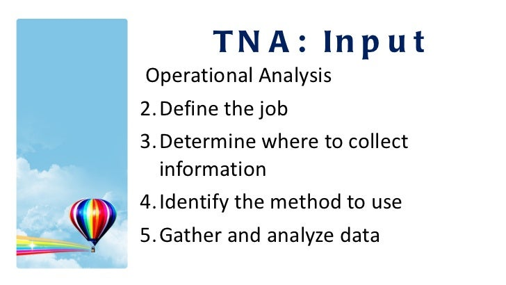 <ul><li>Operational Analysis </li></ul><ul><li>Define the job </li></ul><ul><li>Determine where to collect information </l...