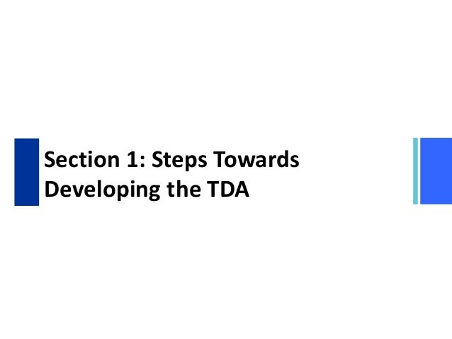 TDA/SAP Methodology Training Course Module 2 Section 1