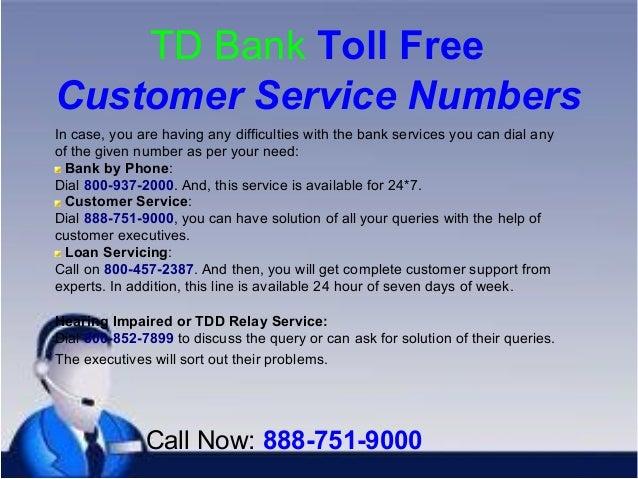 td bank customer care