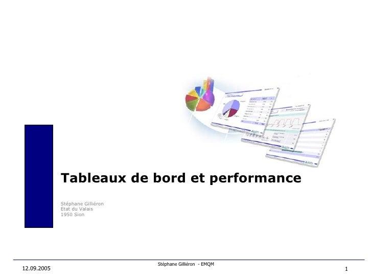 12.09.2005 Tableaux de bord et performance Stéphane Gilliéron Etat du Valais 1950 Sion