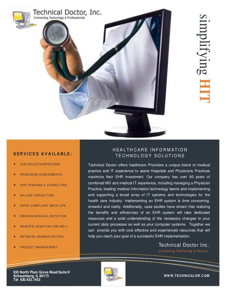 simplifying HIT                                                       HEALTHCARE INFORMATIONSERVICES AVAILABLE:           ...