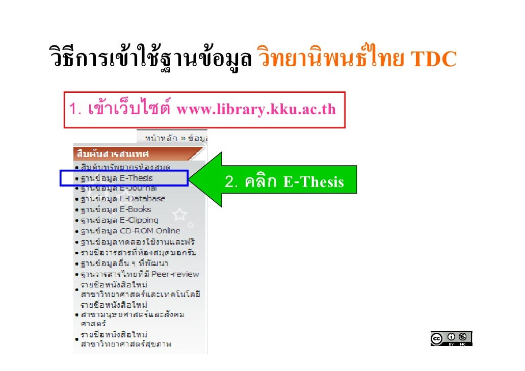 thai thesis database online Electronic thesis writing system (e-thesis) graduate school, chulalongkorn university.
