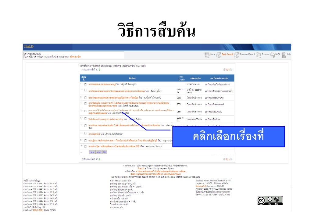 Thai thesis database online