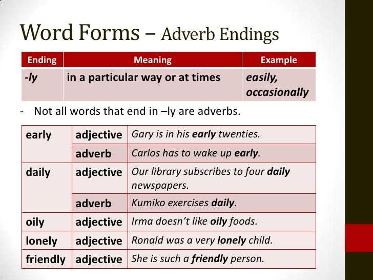 list of adverbs without ly pdf