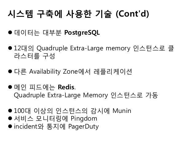  사진은 계속해서 증가...  Amazon EC2의 최대 메모리는 68GB  해결책으로... 먼저 수직 분산 DB 스케일링