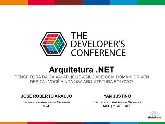 Globalcode  – Open4education Arquitetura .NET PENSE FORA DA CAIXA: APLIQUE AGILIDADE COM DOMAIN DRIVEN  DESIGN...