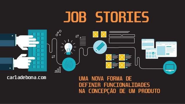 carladebona.com JOB STORIES UMA NOVA FORMA DE DEFINIR FUNCIONALIDADES NA CONCEPÇÃO DE UM PRODUTO